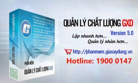 Ra mắt phiên bản phần mềm QLCL GXD 5.0