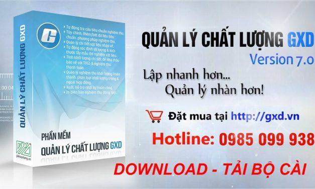 Phần mềm Quản lý chất lượng công trình GXD 7.0 (QLCL)