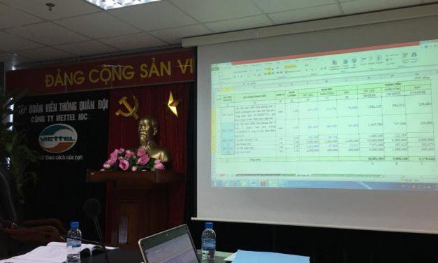GXD triển khai huấn luyện dự toán cho nhân viên Viettel IDC