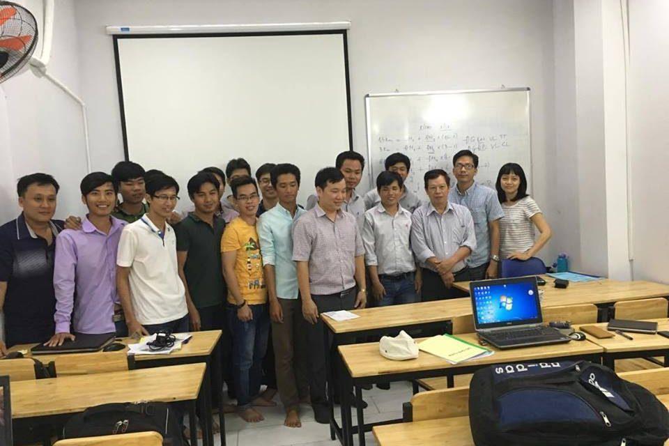 Một số hình ảnh tại lớp học Thanh quyết toán GXD tại Hồ Chí Minh