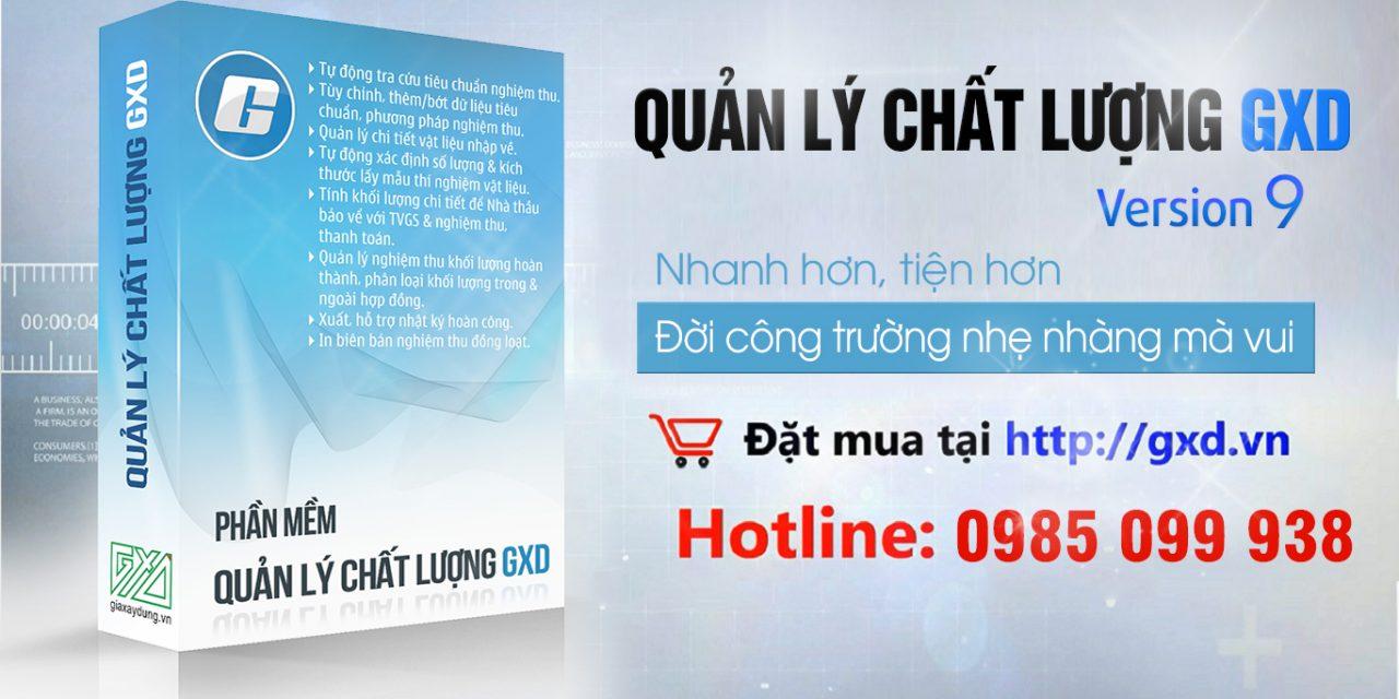 Cập nhật phần mềm QLCL GXD lên Nghị định số 06/2021/NĐ-CP